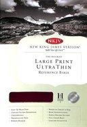 NKJV Ultrathin Large Print Reference Burgundy Bonded Leather
