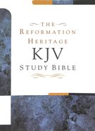 KJV Reformation Heritage Study Bible Black