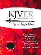 Kjver Sword Study Personal Size Large Print Bible Black Ultrasoft Imitation Leather