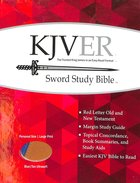 Kjver Sword Study Personal Size Large Print Bible Blue/Tan