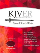 Kjver Sword Study Personal Size Large Print Indexed Genuine Burgundy Leather