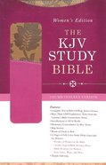 KJV Study Women's Indexed Bible Tan/Pink