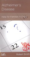 Alzheimer's Disease (Physical And Mental Well-being Minibooks Series) Booklet