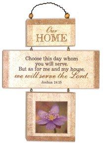 Cross Shaped Three Piece Mdf Wall Plaque: Our Home, Joshua 24:15 (Crosswords)