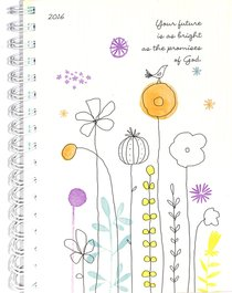2016 Monthly/Weekly Planner: Bird/Flowers