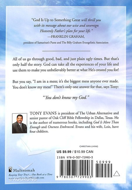 Buy God Is Up To Something Great By Tony Evans Online God Is Up To
