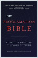 NIV Proclamation Bible (Black Letter Edition) Hardback
