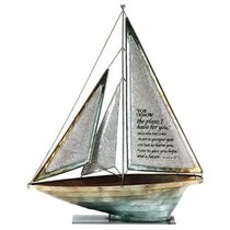 Sailboat Metal: For I Know the Plans.. Jeremiah 29:11 (White)