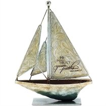 Sailboat Metal: He Shall Direct Your Paths.. Proverbs 3:6 (Cream)