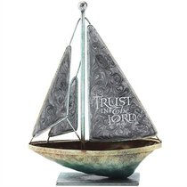 Sailboat Metal: Trust in the Lord.. Proverbs 3:5 (Gray)