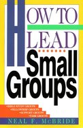 How to Lead Small Groups Paperback