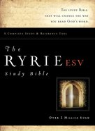 ESV Ryrie Study Indexed Burgundy (Red Letter Edition)