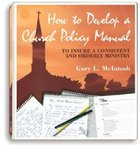 How to Develop a Church Policy Manual Pack