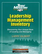 Team Ministry: Leadership/Management Inventory