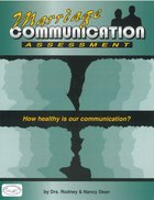 Team Ministry: Marriage Communication Assessment Paperback
