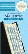 Majestic Bible Tabs Blue Floral Stationery