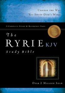 KJV Ryrie Study Bible Black/Blue (Red Letter Edition)