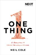 Ln: One Thing Paperback