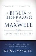 Rvr 1960 Biblia De Liderazgo De Maxwell (Black Letter Edition) (Maxwell Leadership Bible) Hardback