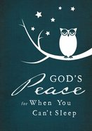 God's Peace When I Can't Sleep Hardback
