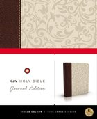 KJV Holy Bible Brown/Cream Journal Leathersoft (Red Letter Edition) Imitation Leather