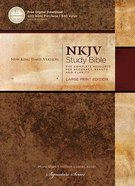 NKJV Study Bible Large Print (Black Letter Edition)