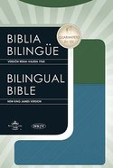 NKJV/RVR English/Spanish Bible Blue/Green Premium Imitation Leather