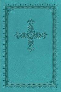 KJV Ultraslim Bible Blue With Cross (Red Letter Edition)