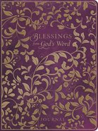 Premium Journal: Blessings From God's Word Purple Leatherluxe