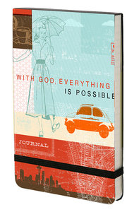 Notebook With Elastic Closure: With God All Things Are Possible (Matthew 19:26)