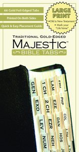 Majestic Bible Tabs Large Print Traditional Gold
