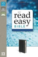 NIV Readeasy Bible Black Duo-Tone Large Print (Red Letter Edition) Imitation Leather