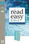 NIV Readeasy Bible Turquoise Italian Duo-Tone Large Print (Red Letter Edition) Imitation Leather