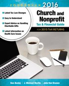 Zondervan 2016 Church and Nonprofit Tax and Financial Guide: For 2015 Tax Returns Paperback