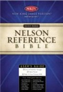 NKJV Nelson Reference Bible Thumb Indexed Black (Red Letter Edition) Bonded Leather