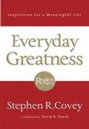 Everyday Greatness Paperback