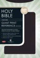 NKJV Giant Print Reference Bible Black Imitation Leather