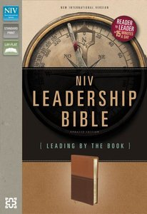 NIV Leadership Italian Duo-Tone Bible Dark Caramel/Caramel