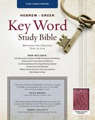 KJV Hebrew-Greek Key Word Study Bible Burgundy Bonded Leather