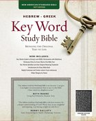NASB Hebrew-Greek Key Word Study Bible Black (New Edition) Genuine Leather