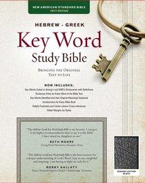 NASB Hebrew-Greek Key Word Study Bible Black (New Edition)