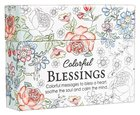 Adult Boxed Coloring Cards: Colorful Blessings