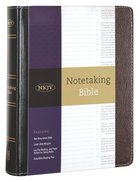 NKJV Notetaking Bible Black/Brown (Red Letter Edition) Bonded Leather