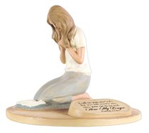 Devoted Sculpture: Praying Woman I Call on You, My God.... (Psalm 17.6)