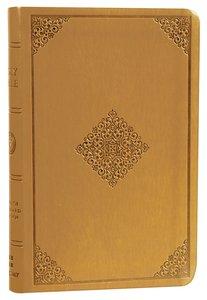 ESV Value Compact Bible Goldenrod Ornament Trutone (Black Letter Edition)