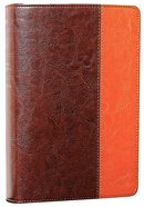 NLT Compact Large Print Bible Brown Tan (Red Letter Edition) Imitation Leather