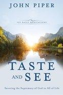 Taste and See Hardback