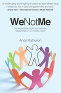 We Not Me Paperback