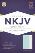 NKJV Giant Print Reference Bible Mint Green Leathertouch Indexed Imitation Leather