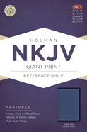 NKJV Giant Print Reference Bible Cobalt Blue Leathertouch Imitation Leather